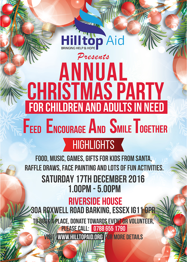 HillTop Aid Xmas Party for Children and Homeless Adults